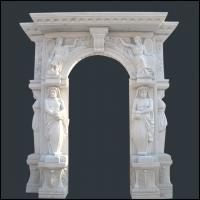China Natural Stone Fireplace Design With Nude Man and Woman on sale