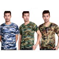 Buy cheap Professional Short Sleeve Camouflage T Shirt Printing For Man from wholesalers