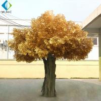 Wholesale Garden Decoration Artificial Banyan Tree , Yellow Leaves Fake Ficus Tree from china suppliers