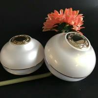 Buy cheap Ball Cream Cosmetic Jar White Color Acrylic Plastic 30g 50g  Onion Shape Jar from wholesalers