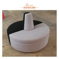 Buy cheap Hotel Restaurant Furniture Leather Sofa Booth Round Shape 3 - 5 Years Guarantee from wholesalers