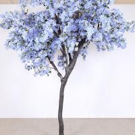 Buy cheap Soft Artificial Flower Tree Jacaranda Wood Bule Color Sakura Tree Branch from wholesalers