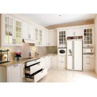 Buy cheap Solid Wood Contemporary Kitchen Cabinets Paint Finish Luxury Furniture from wholesalers