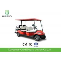 Buy cheap Red Color Electric Golf Carts 6 Passenger Vehicle With 4 Front Seats + 2 Rear Seats from wholesalers