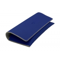 Buy cheap Blue Paint Edge Big Frame Handmade Leather Glasses Case With Magnetic Closure from wholesalers