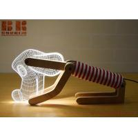 Buy cheap new arrivals Latest Lamps 3D Led Touch Dimmer Wooden Dog Bedroom Kids Night Light/LED Desk Table Decoration Light Lamp from wholesalers