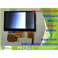Buy cheap 4.3 inch 480x272 Industrial LCD Module bonding Capacitive Touch Panel for Digital Product from wholesalers