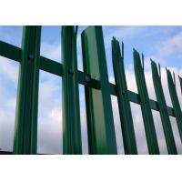 Wholesale Galvanized Steel Palisade Fencing Easily Assembled Powder Coated Durability from china suppliers