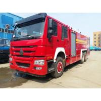 Buy cheap Red Special Purpose Truck , HOWO Heavy Duty Emergency 6x4 Fire Fighting Truck from wholesalers