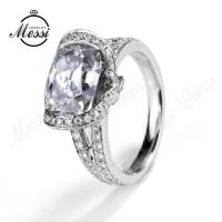 Buy cheap gold jewelry 18k moissanite ring diamond ring from wholesalers