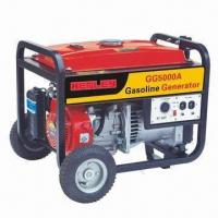 Buy cheap 5,500W/50Hz AC Rated Output Portable Gasoline Generator, Sized 705 x 545 x 585mm, 25L Tank Capacity from wholesalers