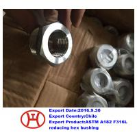 Wholesale ASTM A182 F316L reducing hex bushing from china suppliers