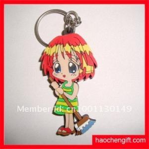 China pvc key chain/ polyresin bear/ color bear key charm on sale