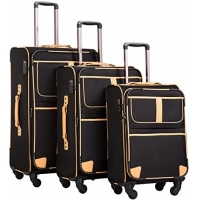 Wholesale 600D Spinner Softshell TSA Lock EVA Trolley Luggage from china suppliers