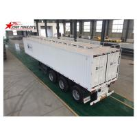 Buy cheap High - Tensile Steel Flatbed Container Trailer With Water Proof Design product