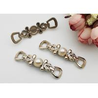 Buy cheap Faux Pearl Silver Shoe Buckles And Clips Decorative Accessories Different Colors from wholesalers