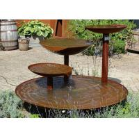 China Cascading Outdoor Waterfall Corten Steel Water Feature Fountain For Garden on sale