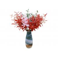 Quality Colorful Artificial Olive Branch , Artificial Tree Branches Decor Plastic + Iron Wire for sale