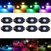 Buy cheap LED RGB Rock Light For Trucks Multi Color Bluetooth Control Under Car LED Underbody Lights Underglow Lights Accessories from wholesalers