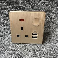 Buy cheap UK Power Independent Dual USB Wall Switch Socket For Apartment / Home from wholesalers