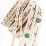 Buy cheap 100% Natural Eco-Friendly Custom Printed Personalised Cotton Ribbon Wholesales from wholesalers