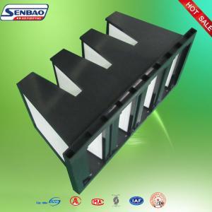 China Gas Turbine Air Handling Unit  Air Filter Plastic Frame High Efficiency on sale