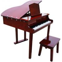 Wholesale 37 Key Solidwood Grand Toy wooden piano Kid toy mini piano with stool FS37 from china suppliers