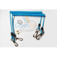 Buy cheap Sky Blue Stopdrop Plastic Coil Lanyard 18CM With Zinc Alloy Hooks from wholesalers