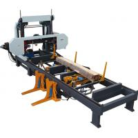 Buy cheap Hydraulic horizontal band sawing machine saw mills for automatic wood cutting from wholesalers