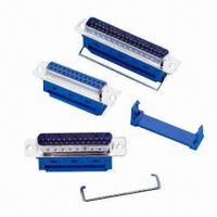 Buy cheap IDC Type D-sub Connectors, Male and Female 9/15/25/37/50 Pins Positions, Metal/Plastic Shell from wholesalers