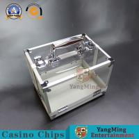 Buy cheap 600pcs 40mm Casino Game Accessories Round Acrylic Chip Tray  Clay Iron ABS Carrier from wholesalers