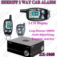 Buy cheap 2 Way Paging Car Alarm with Auto Alarms Systems / FM 2000M  LCD Remote Controller ZX-106 from wholesalers