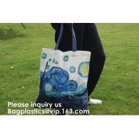 Buy cheap New Arrival Customized Logo Printing Cotton Canvas Bag With Wooden Handle Cotton Tote Bag Shopping Use, bagease from wholesalers
