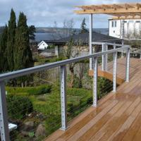 Wholesale Modern outdoor deck Railing design Stainless Steel Handrail Wire Balustrade cable railing from china suppliers