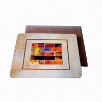 Wholesale MDF Cork Back Coaster, Measures 10 x 10cm, Customized Designs and Specifications are Accepted from china suppliers