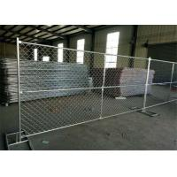 Buy cheap 6 Foot / 10 Foot / 12 Foot Temporary Chain Link Fence Low Carbon Steel Q235 Material from wholesalers