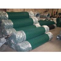 Sport Field Plastic Coated Chain Link Fencing , 9 Gauge Chain Link Wire Mesh Fencing