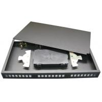 Buy cheap 1U 19 Economy Fixed fiber Patch Panel,top cover removable,For SC, FC, ST,LC adapter from wholesalers