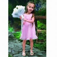 Buy cheap Flower Girls' Dress, Made of Satin, OEM and ODM Orders are Accepted from wholesalers
