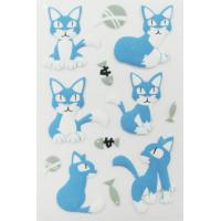 Wholesale Pet Die Cut 3d Animal Stickers , Handbag Little Cat Puffy Stickers Offset Printing from china suppliers
