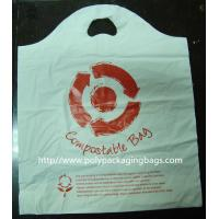 Buy cheap 100% Compostable Plastic Bags Die Cut Shopping Bag in White from wholesalers