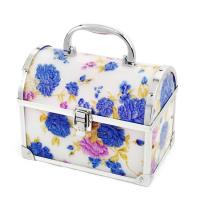 Wholesale Single Open Purple Jewelry Plastic Cosmetic Box Portable Makeup Organizer from china suppliers