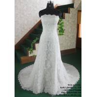 Buy cheap Overlay lace and beaded off shoulder wedding dress from wholesalers
