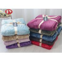 Buy cheap OEM/ODM Logo Luxury Flannel Polyester Fleece Blanket All Season Luxurious Gift Packing Soft from wholesalers