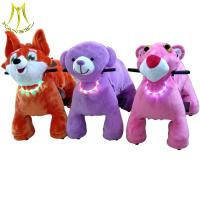 Buy cheap Hansel baby ride electric animal and steel frame animals structure with fireproof plush walking animal from wholesalers