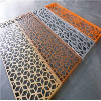 Buy cheap Aluminum Laser Cut Perforated Screen Panels And Decoration Partition Panel from wholesalers