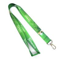 Buy cheap Green Dye Sublimation Lanyards Keychain Necklace Strap With Metal Spring Hook from wholesalers