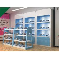 Buy cheap Lovely Blue Color Children Shoe Display Shelves Shoes Fixtures For Retail Stores from wholesalers