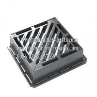 Buy cheap BS EN124 Class D400 Heavy Duty Ductile Iron Gully Gratings Double Triangular (100mm) For Main Roads from wholesalers