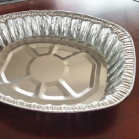 Buy cheap Round 2 Compartment Aluminum Takeaway Containers from wholesalers